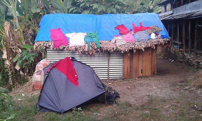 ネパールPandrung (仮設住宅)
